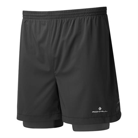 "Ronhill Shorts Men's Stride Twin 5"" All Black"