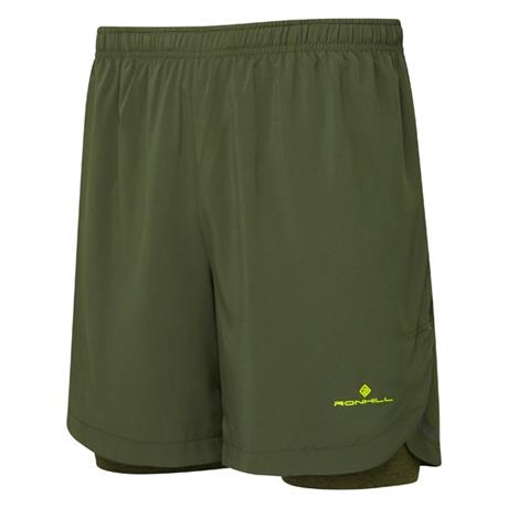 "Ronhill Shorts Men's Momentum Twin 7"" Dark Khaki"