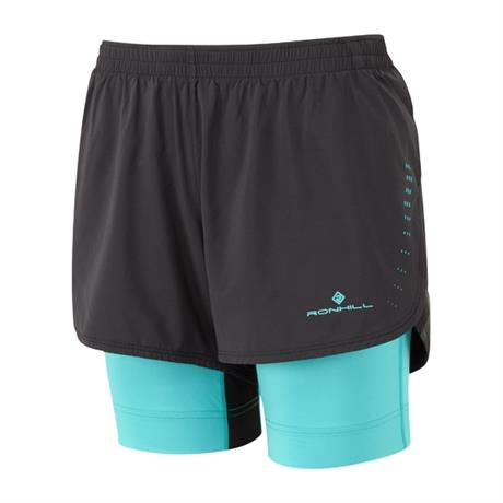 Ronhill Shorts Women's Infinity Marathon Twin Black/Peacock