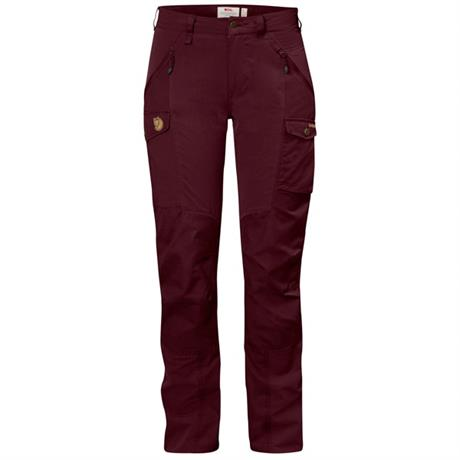 Fjall Raven Pants Women's Nikka Curved REGULAR Leg Trousers Dark Garnet