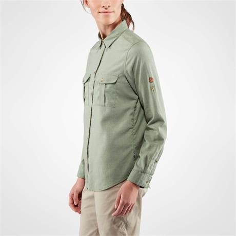Fjall Raven Top Women's Ovik Travel Shirt LS Sage Green