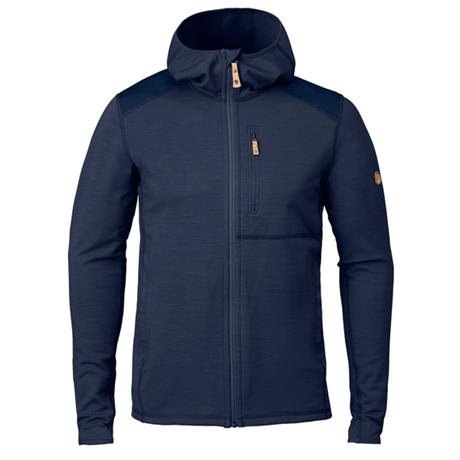 Fjall Raven FLEECE Jacket Men's Keb Hoodie Storm/Night Sky