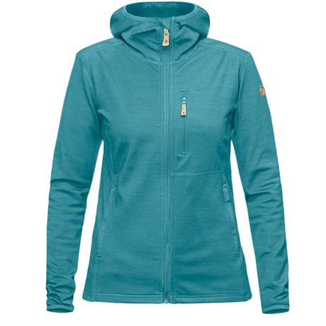 Fjall Raven FLEECE Jacket Women's Keb Hoodie Lagoon
