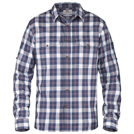 Fjall Raven Shirt Men's Singi Flannel LS Uncle Blue