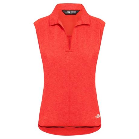 North Face BASE LAYER Top Women's Inlux S/L Juicy Red/Dark Heather