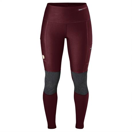 Fjall Raven Pants Women's Abisko Trekking Tights Dark Garnet