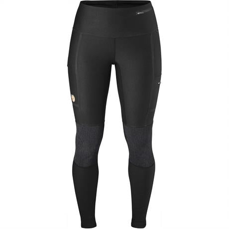 Fjall Raven Pants Women's Abisko Trekking Tights Black