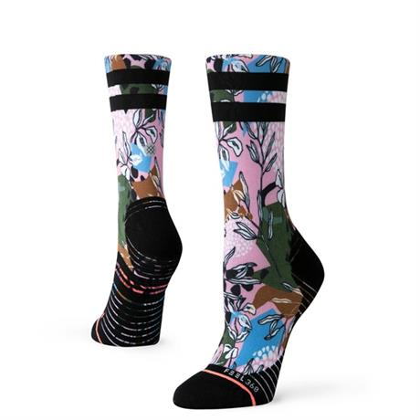 Stance RUNNING Socks Women's Compression Crew Pink Print