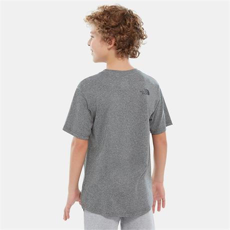 North Face Kid's Top Boy's Reaxion SS Tee Medium Grey Heather