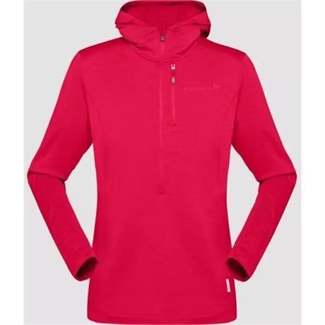 Norrona Jacket Women's Svalbard Wool Hood Jester Red