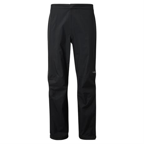 Rab WATERPROOF Overtrousers Men's Downpour Plus SHORT Leg Pants Black