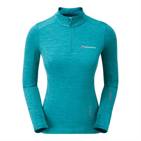 Montane Top Women's Katla Pull-On Cerulean Blue/Orange