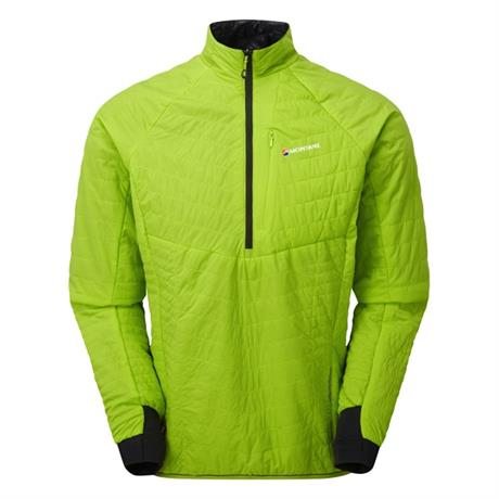 Montane INSULATED Top Men's Fireball Verso Pull-on Laser Green/Black