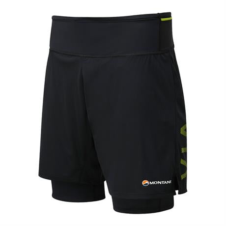 Montane Shorts Men's Trail 2SK Black/Laser Green