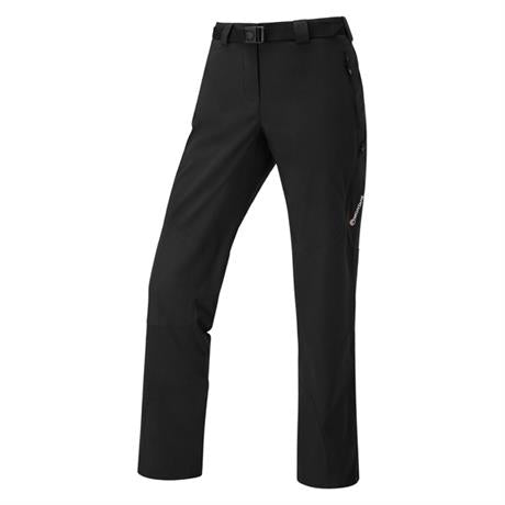 Montane Pants Women's Terra Ridge REGULAR Leg Trousers Black