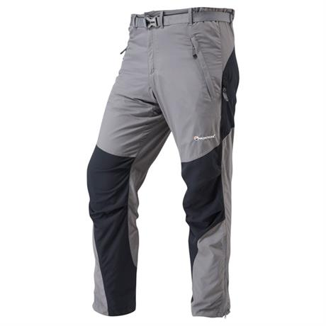 Montane Pants Terra Slim Fit REGULAR Leg Trousers Graphite/Black