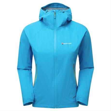 Montane WATERPROOF Jacket Women's Minimus Stretch Ultra Cerulean Blue/Orange