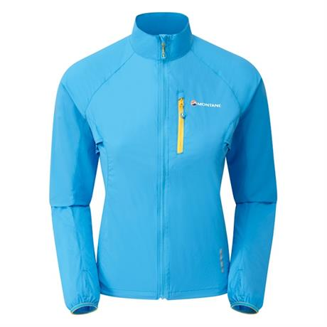 Montane WINDSHELL Jacket Women's Featherlite Trail Cerulean Blue/Orange
