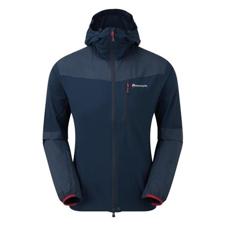 Montane WINDSHELL Jacket Men's Lite-Speed Jacket Narwhal Blue/Flag Red