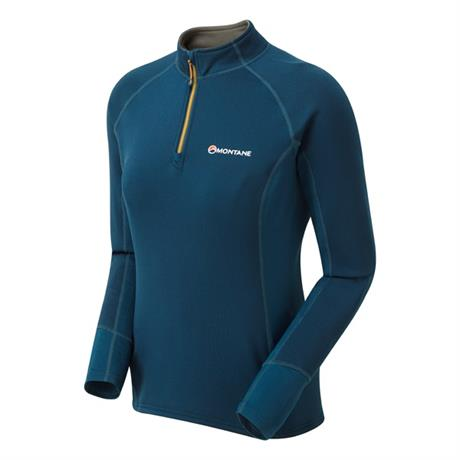 Montane FLEECE Top Men's Iridium Hybrid Pull-on Narwhal Blue/Inca Gold