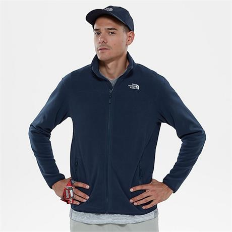 North Face FLEECE Jacket Men's 100 Glacier FZ Urban Navy