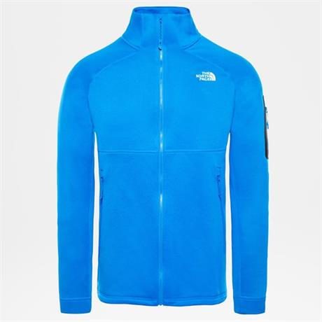 North Face FLEECE Jacket Men's Impendor Powerdry Bomber Blue