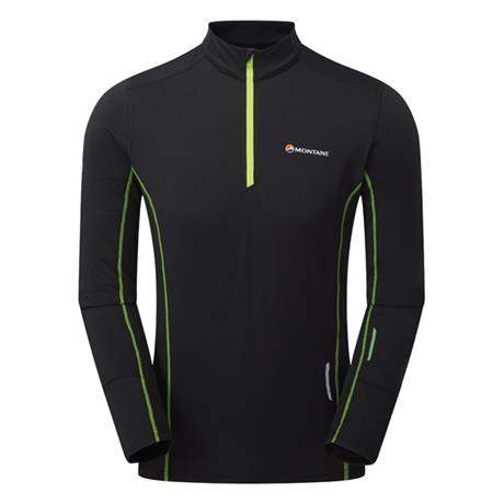 Montane Top Men's Dragon Pull-On Black/Laser Green