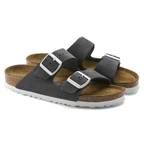 Birkenstock Sandals Arizona Soft Footbed Slim Fit Gunmetal/Suede