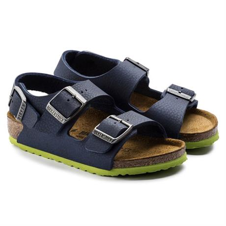 Birkenstock Sandals Kid's Milano Desert Soil Blue