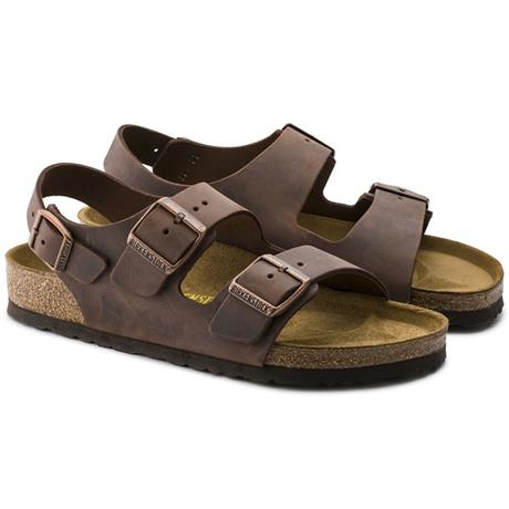 Birkenstock Sandals Milano Regular Fit Habana/Oiled Leather