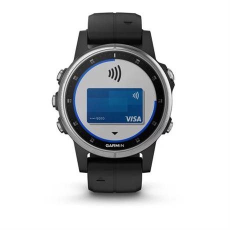 Garmin GPS Watch  Fenix 5 Plus Silver with Black Band