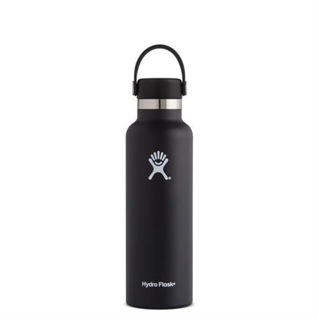 Hydro Flask HYDRATION 21oz / 0.6 L Standard Mouth Bottle Black