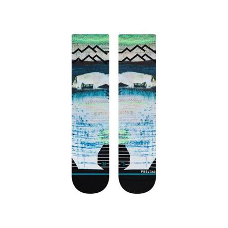 Stance RUNNING Socks Men's Great Plains Crew Multi