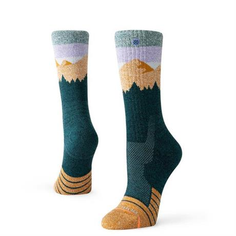 Stance HIKING Socks Women's Hike Ridge Line Green