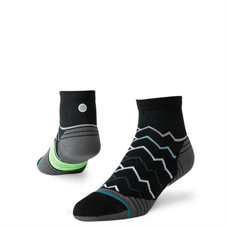 Stance RUNNING Socks Men's Great Plains Quarter Black