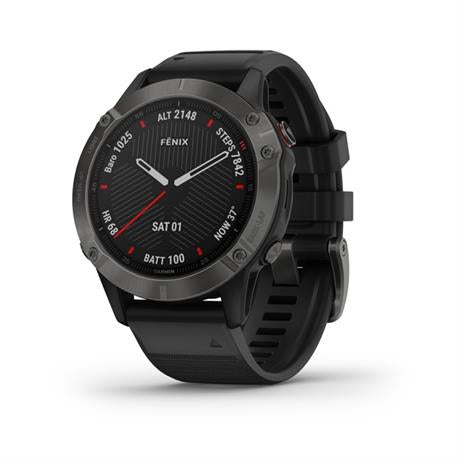 Garmin GPS Watch Fenix 6 Sapphire Grey/Black Band