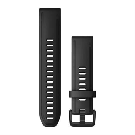 Garmin GPS Spare/Accessory: Quickfit Silicone Watch Strap 20mm Black Long