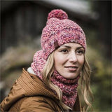 Buff Knitted & Polarfleece Neck Warmer Margo Flamingo Pink