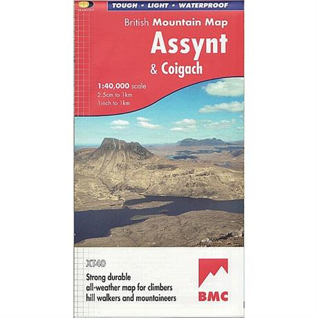Harvey Map - BMC: Assynt & Coigach 1:40,000