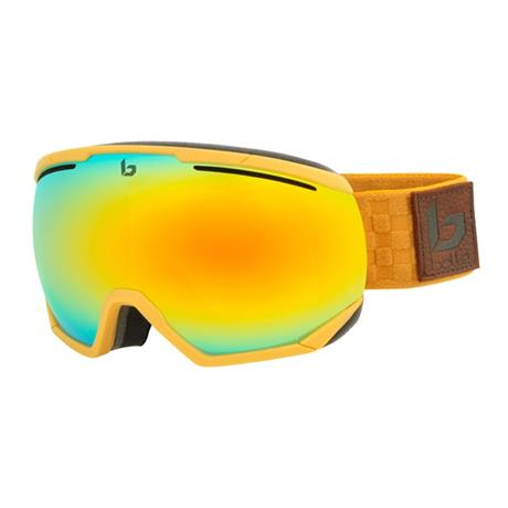 Bolle Ski Goggles Northstar Matte Brown Squares Sunshine Cat 3
