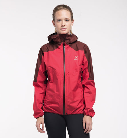Haglofs Women's L.I.M Comp Jacket- Hibiscus/ Maroon Red