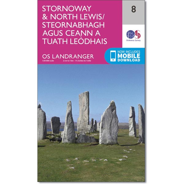 OS Landranger Map 08 Stornoway & North Lewis