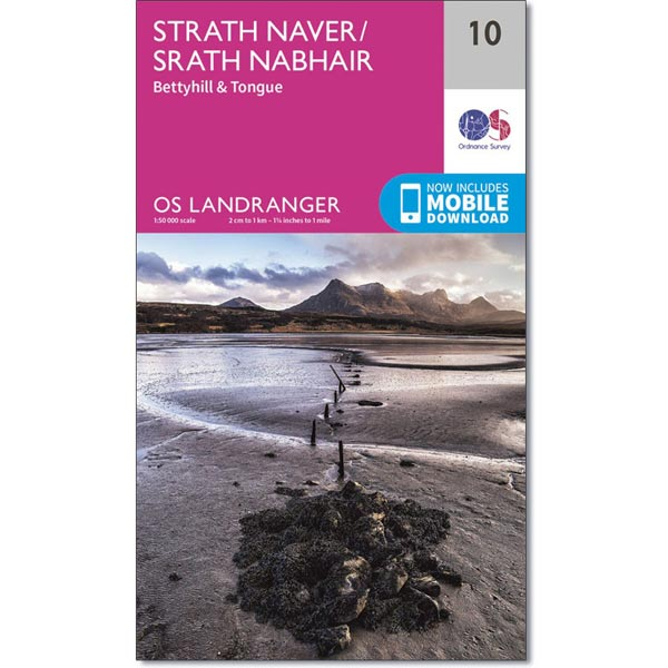 OS Landranger Map 10 Strath Naver, Bettyhill & Tongue