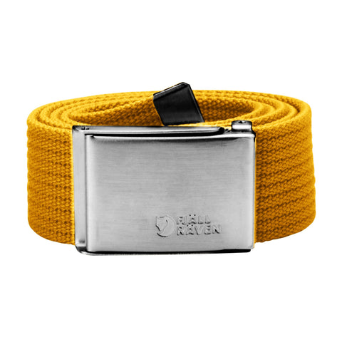 Fjallraven Unisex 3cm Merano Canvas Belt - Yellow