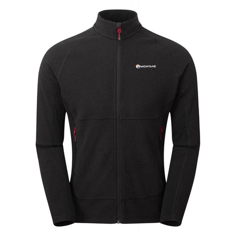 Montane FLEECE Jacket Men's Pulsar Black/Alpine Red