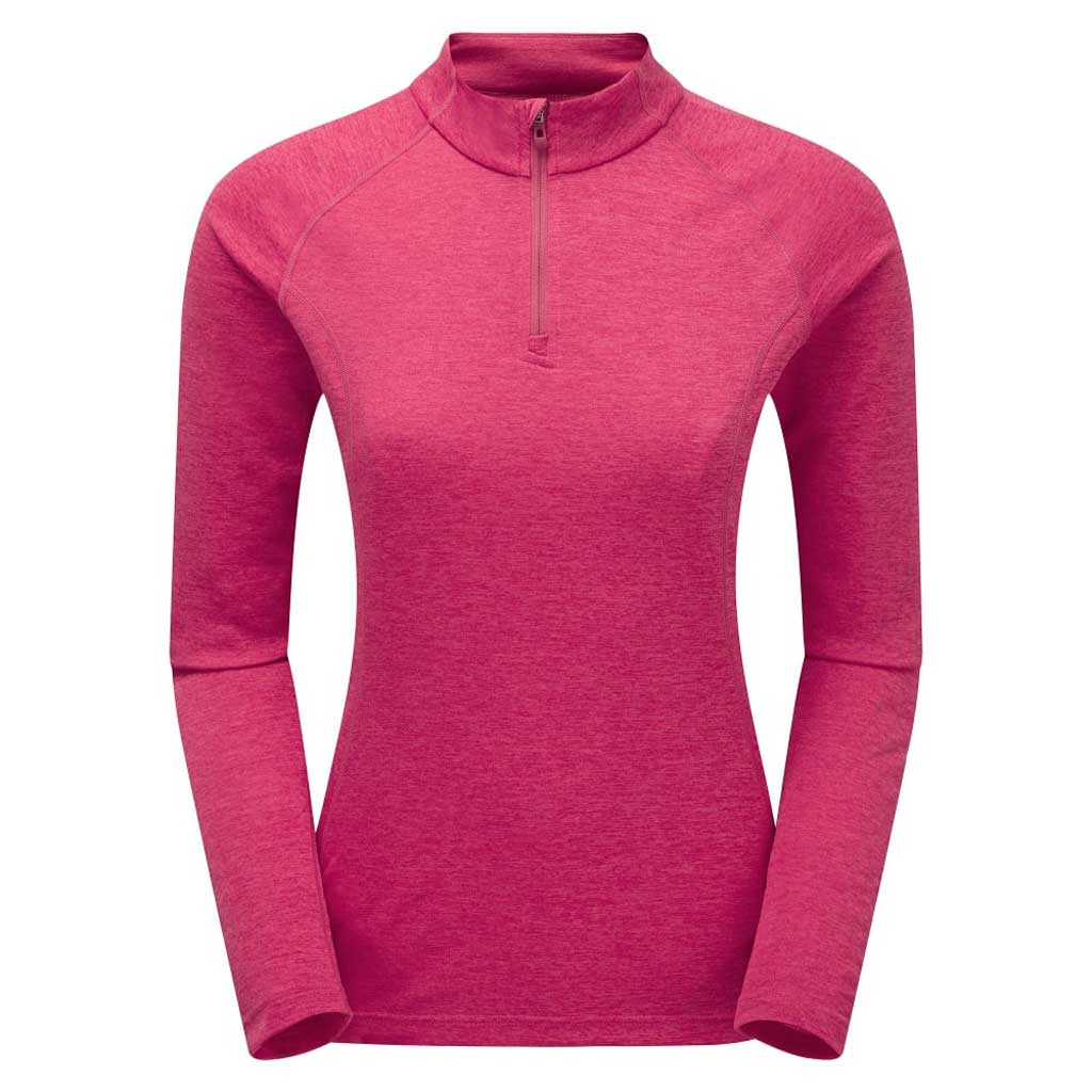 Montane BASE LAYER Top Women's Dart Zip Neck LS French Berry