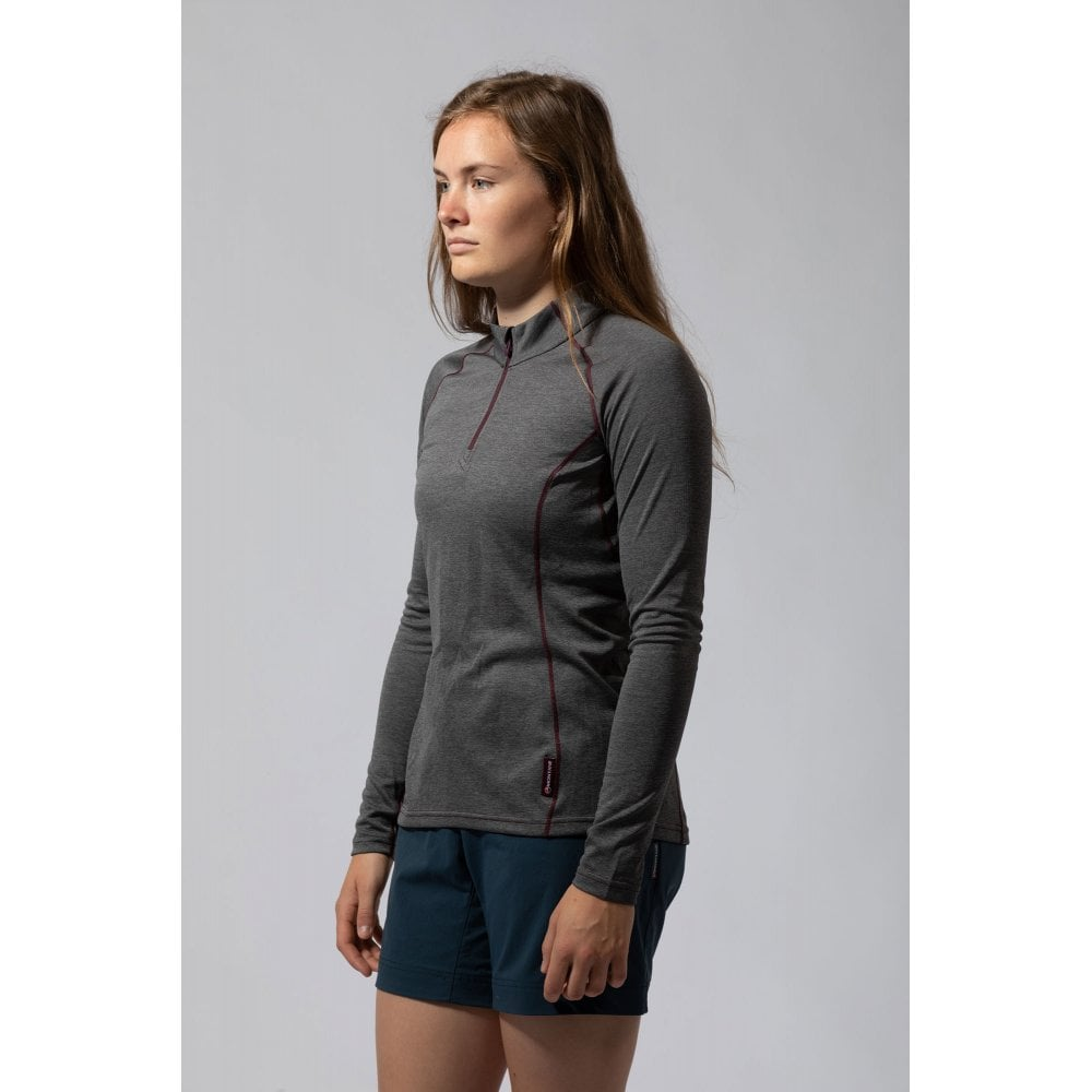 Women's Montane Dart LS Zip Neck - Grey