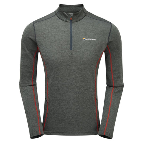 Men's Montane Dart Zip Neck - Grey