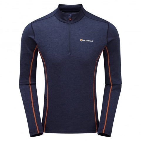 Men's Montane Dart Zip Neck - Navy