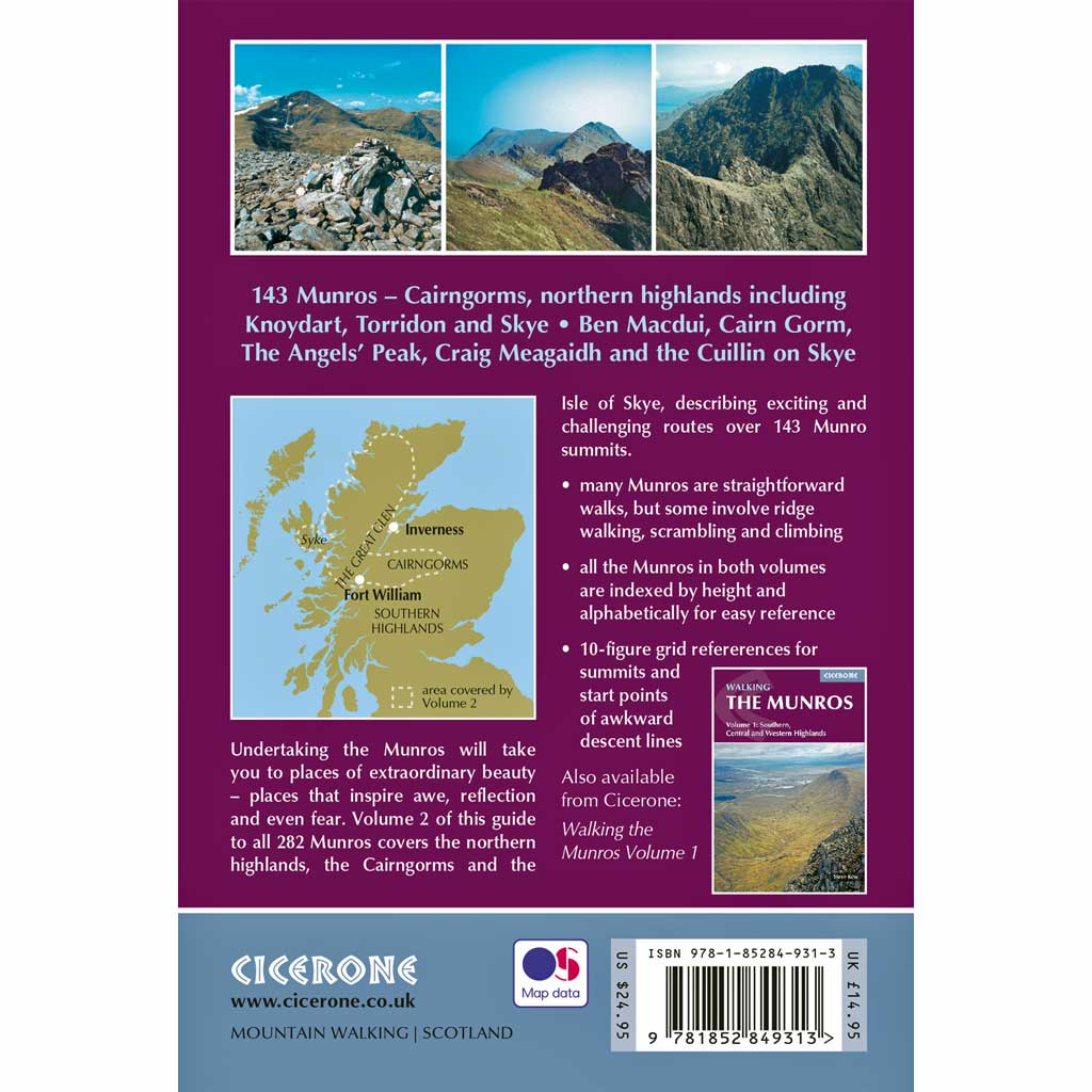 Cicerone Guide Book: Walking the Munros Volume 2